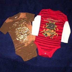 2 ED HARDY BABY BODYSUITS.😍